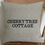 House name cushion