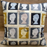 Grey stamp cushion
