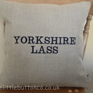 Yorkshire lass cushion