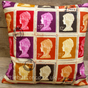 Red stamp cushion