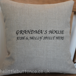 Personalised Grandma cushion