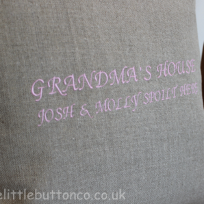 Personalised Grandma cushion pink