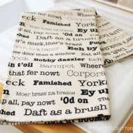 The Yorkshire Collection tea towel