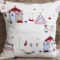 Summer House Cushion Blue