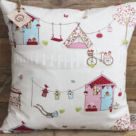 Summer House Cushion Pink