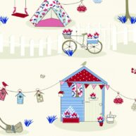 Summer House Fabric Blue