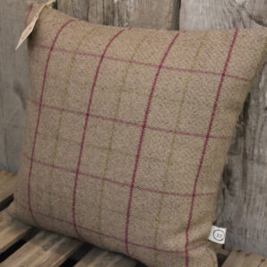 Heather square check cushion