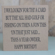 Not Fishing or Golf Greetings Card