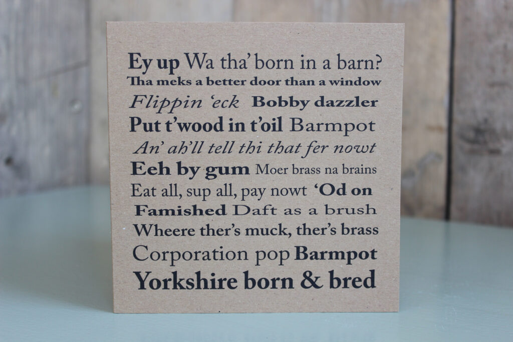 Yorkshire sayings greetings card the little button co yorkshire sayings greetings card m4hsunfo