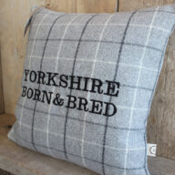 Yorkshire Born & Bred Grey Cushion