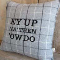 Yorkshire Greetings Grey Cushion