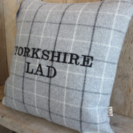 Yorkshire Lad Grey Cushion