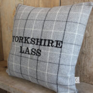Yorkshire Lass Grey Cushion