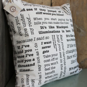 Words of Wisdom 16″ Cushion
