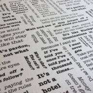 Words of Wisdom Fabric