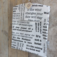 Words of Wisdom Peg Bag