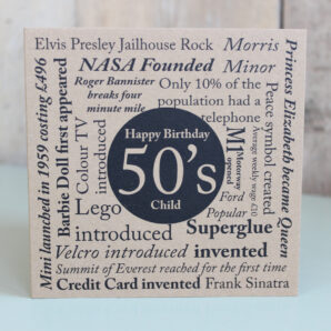 Birthday card-Born in the 50's