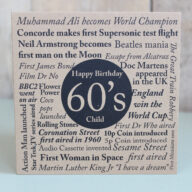 Birthday Card-Born in the 60's