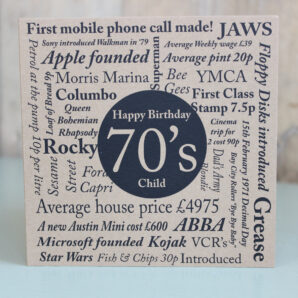 Birthday Card-Born in the 70's