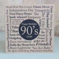 Birthday Card-Born in the 90's