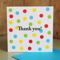 Spotty Thank you Card
