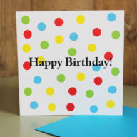 Spotty Birthday Card