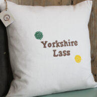 Yorkshire Lass Rose Cushion