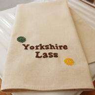 Yorkshire Lass Embroidered T-Towel