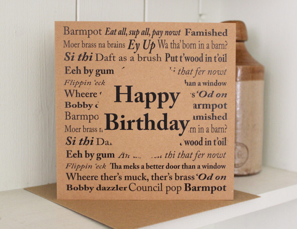 Yorkshire sayings birthday card the little button co yorkshire sayings birthday card bookmarktalkfo Gallery