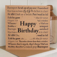 Yorkshire Sayings Birthday Card