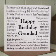 Yorkshire Sayings Grandad Birthday Card