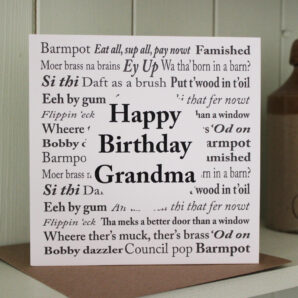 Yorkshire Sayings Grandma Birthday Card