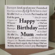 Yorkshire Sayings Mum Birthday Card