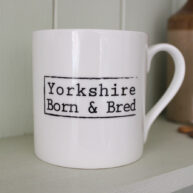Yorkshire Born & Bred White Mug