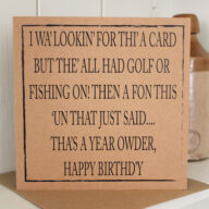 Not Golf Or Fishing Birthday Card