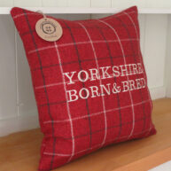 Yorkshire Born & Bred Red Cushion