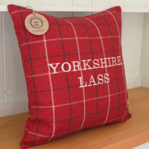Yorkshire Lass Red Cushion